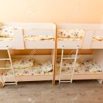 New Kindergarten Bedroom With Small Bunk Beds With Stairs For Stock Photo Picture And Royalty Free Image Image 53572592