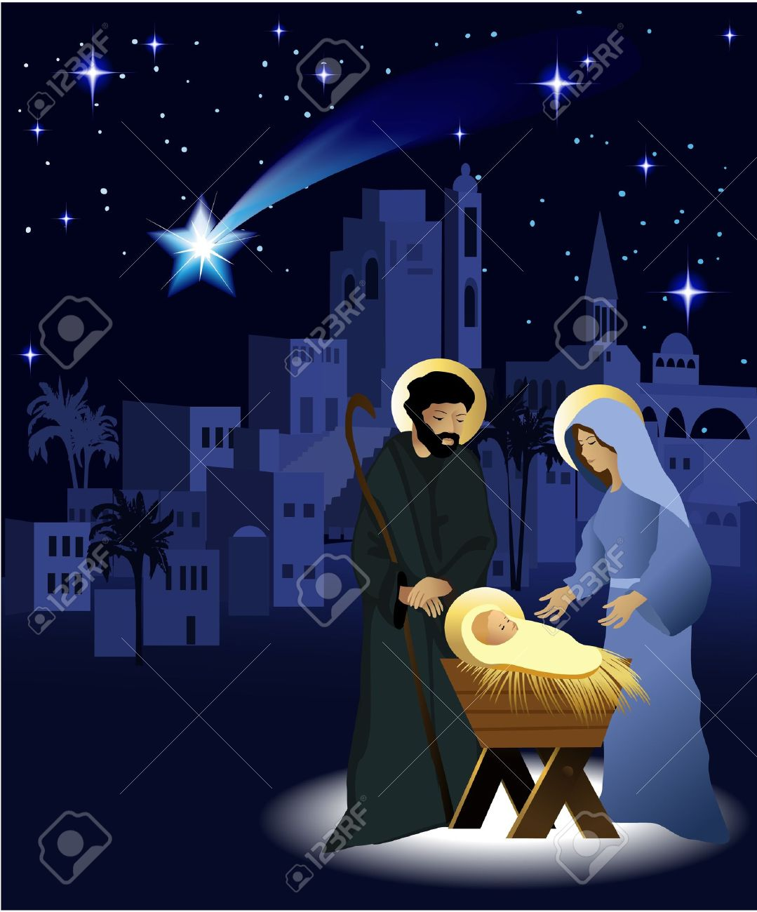 christmas nativity scene with