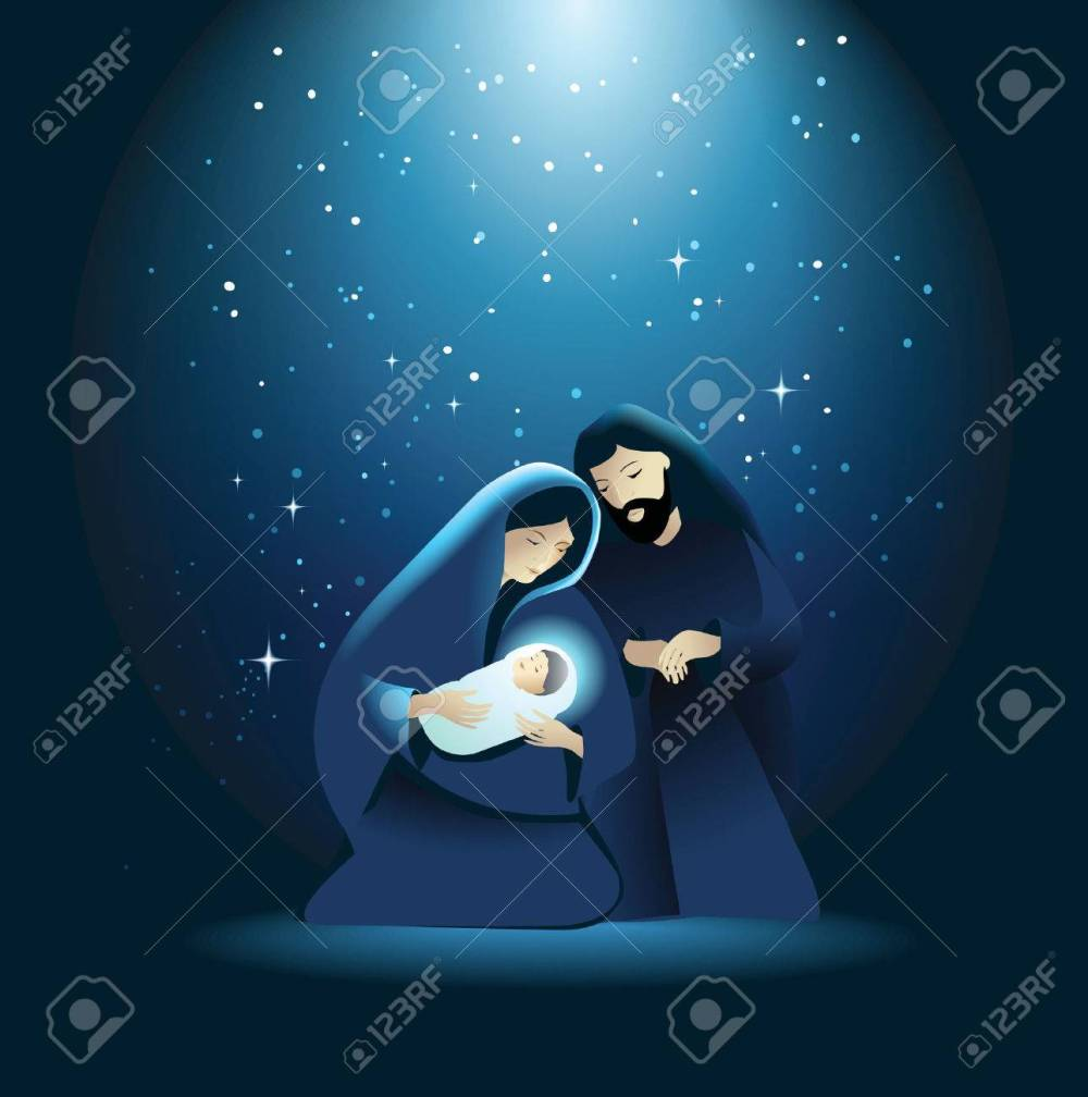medium resolution of holiday background with holy family