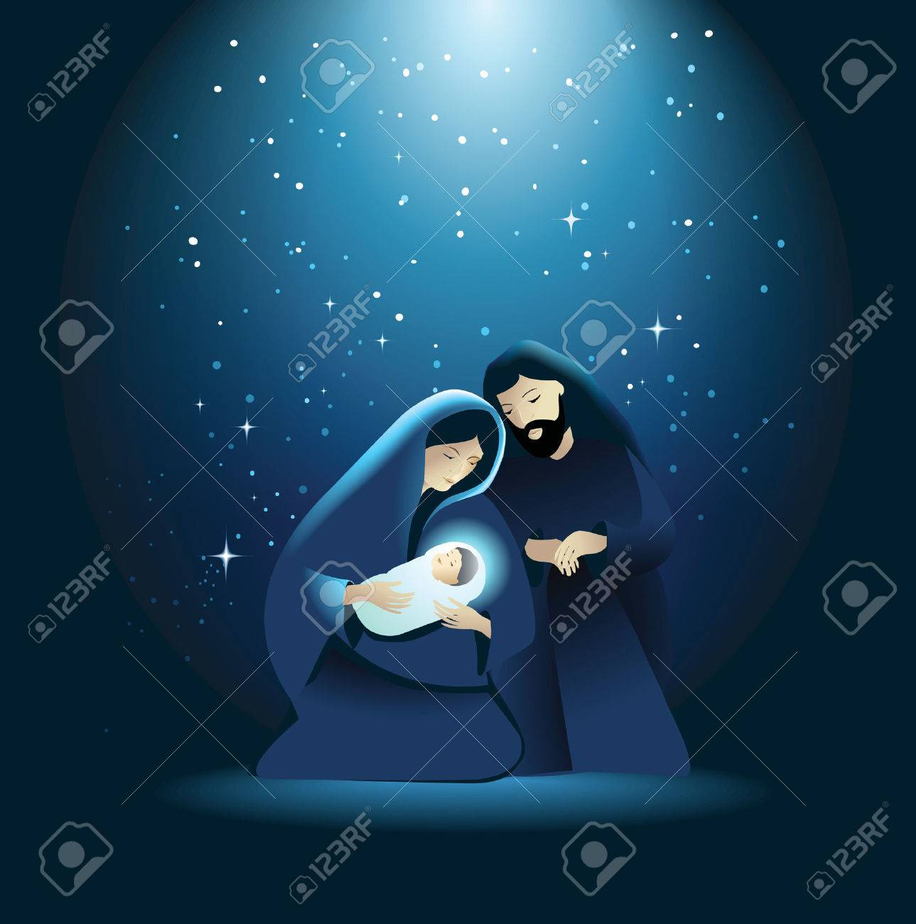 hight resolution of holiday background with holy family