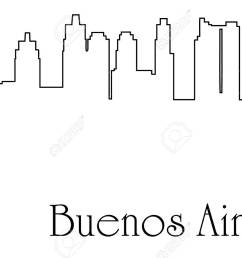 buenos aires city one line drawing background stock vector 92948825 [ 1300 x 889 Pixel ]
