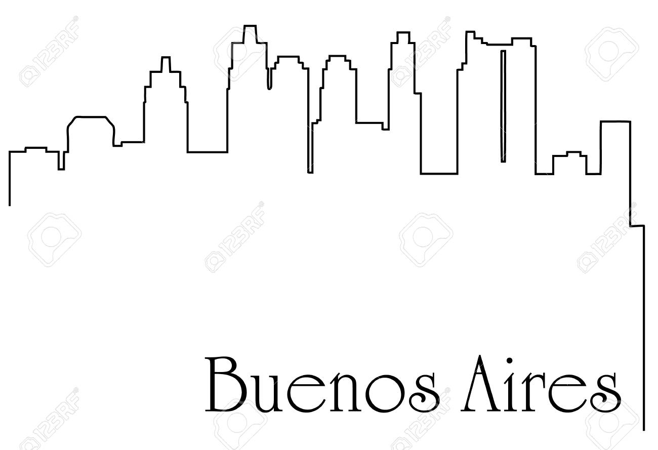 hight resolution of buenos aires city one line drawing background stock vector 92948825