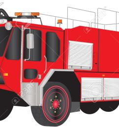 a red airport fire truck isolated on white stock vector 19154614 [ 1300 x 650 Pixel ]