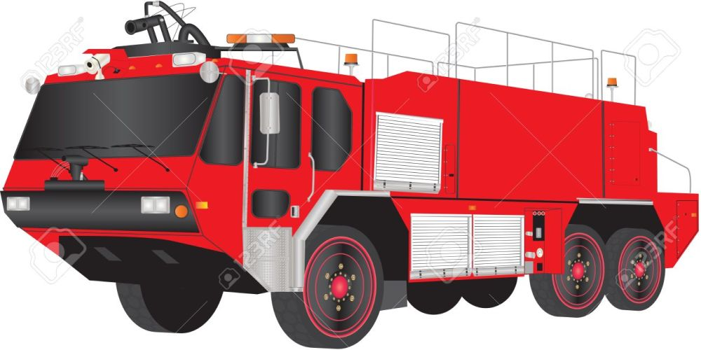medium resolution of a red airport fire truck isolated on white stock vector 19154614