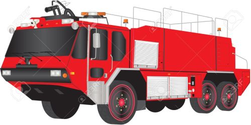 small resolution of a red airport fire truck isolated on white stock vector 19154614