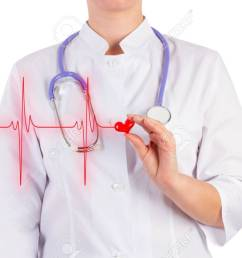 stock photo the doctor is holding a toy heart diagram of heart isolated background [ 1300 x 866 Pixel ]