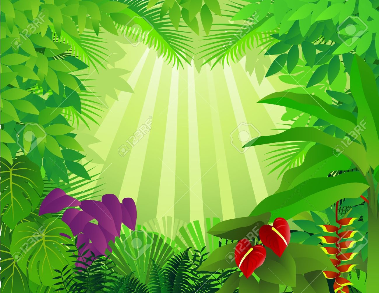hight resolution of forest background stock vector 9569164