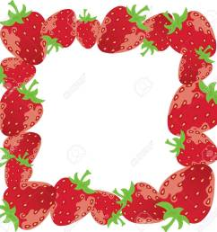 vector vector strawberry frame [ 1300 x 1263 Pixel ]