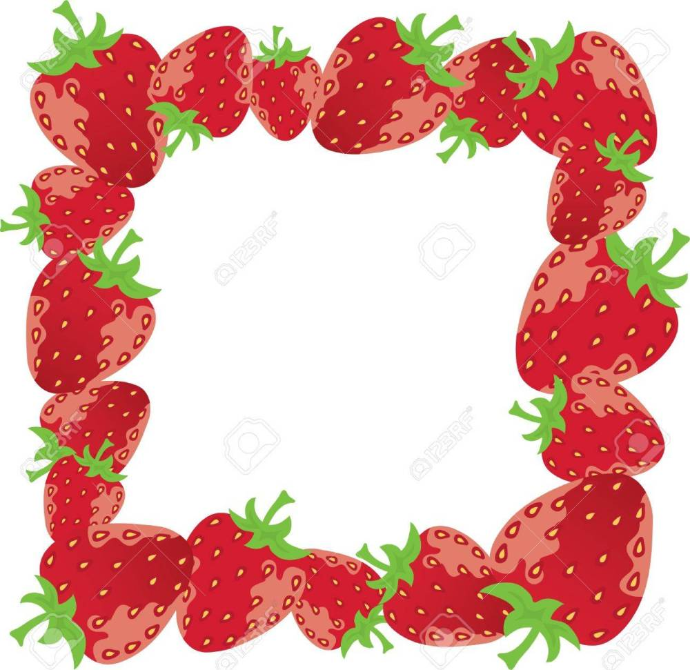 medium resolution of vector vector strawberry frame