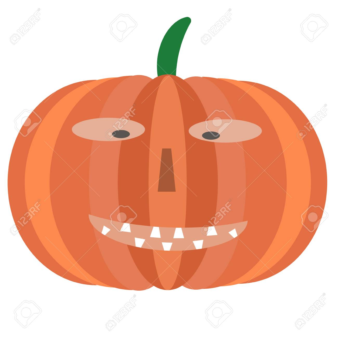 pumpkin with face illustration