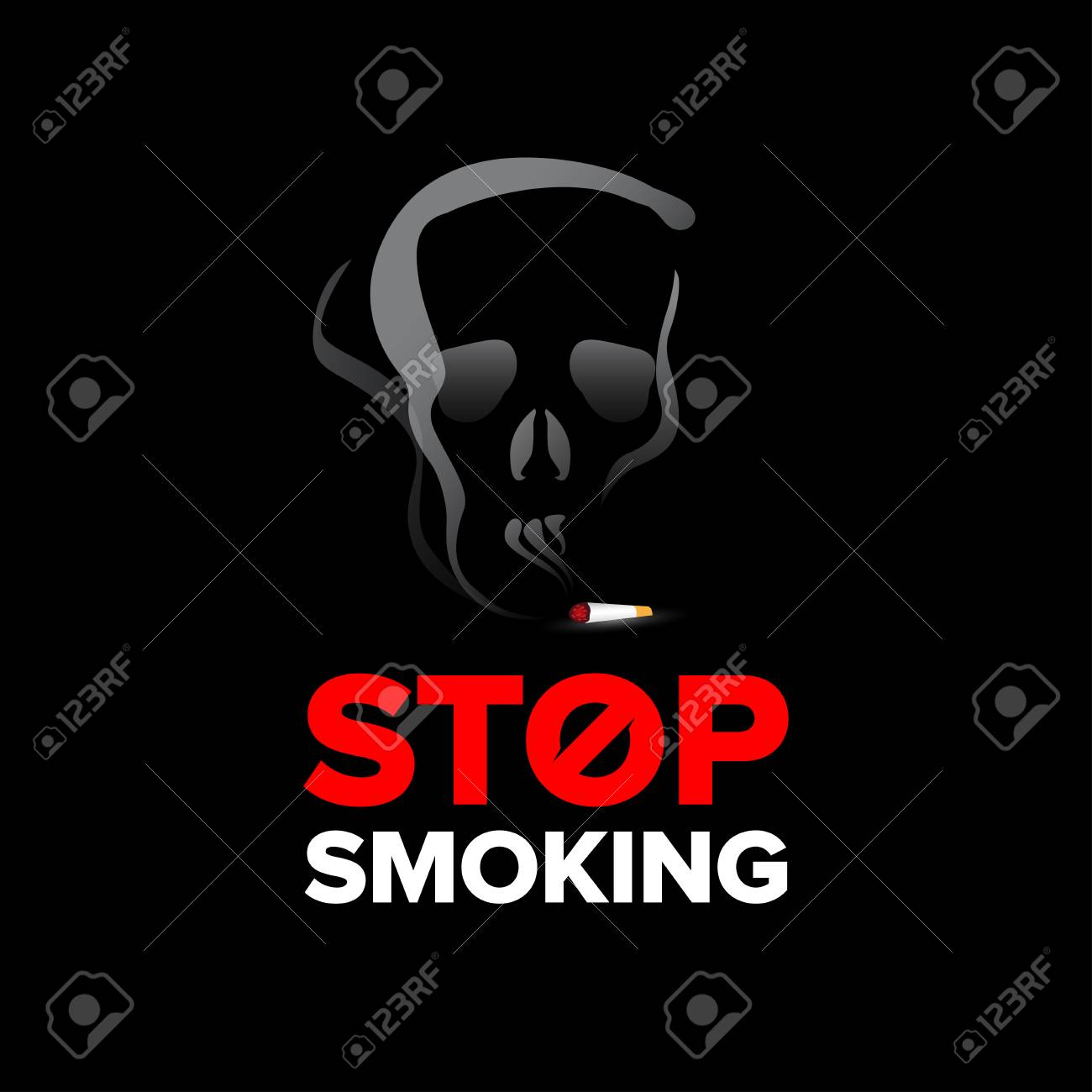stop smoking poster billboard design stop smoking sign isolated