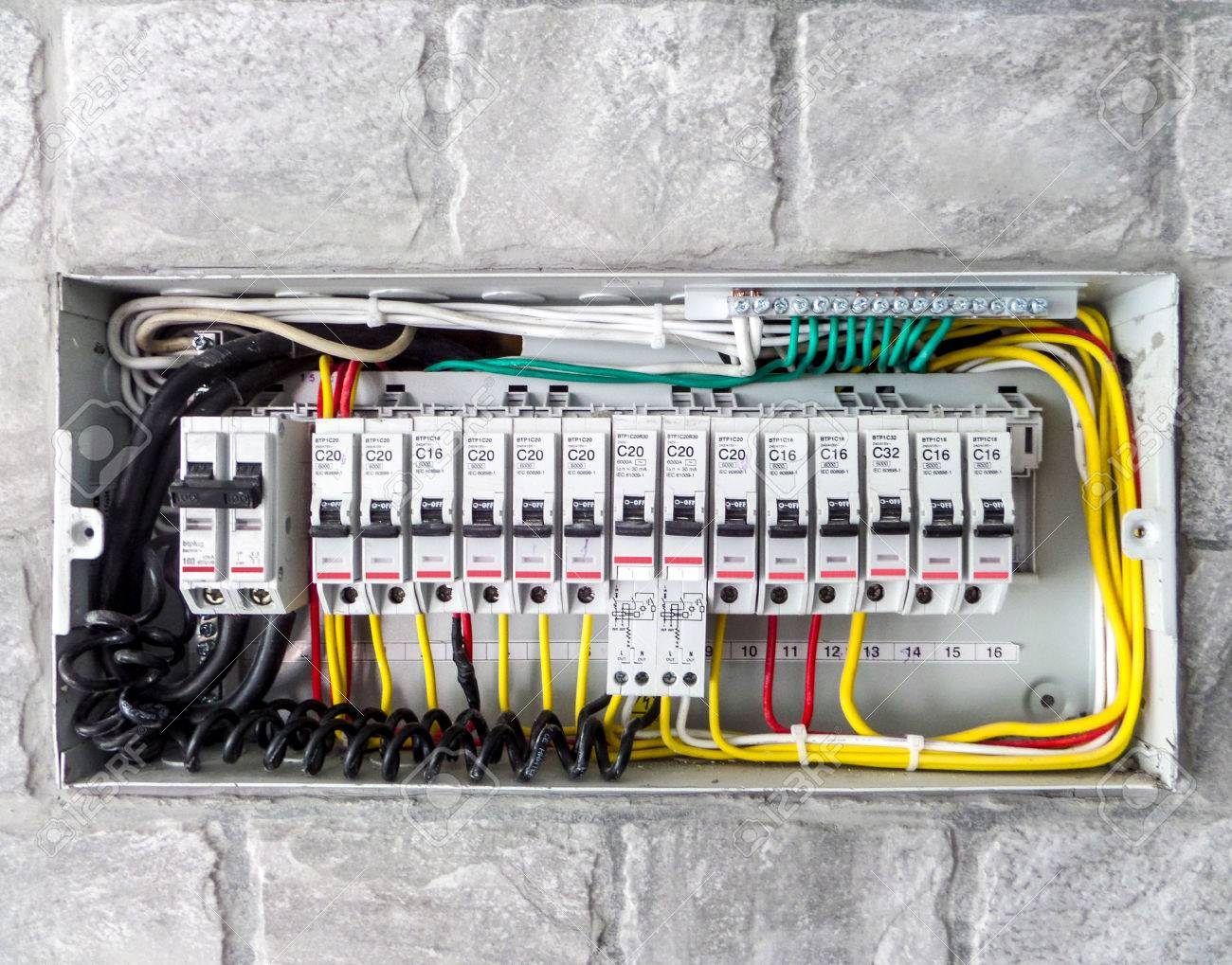 hight resolution of electric main box in the house set up to control and service stock photo 43021973