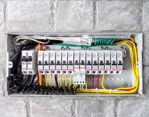 small resolution of electric main box in the house set up to control and service stock photo 43021973