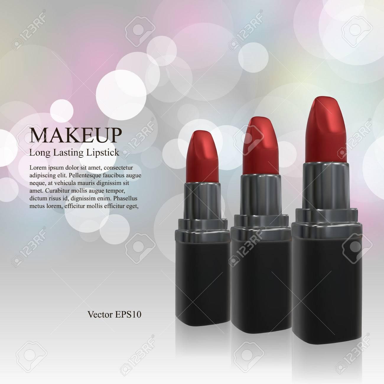 makeup ads template 3d