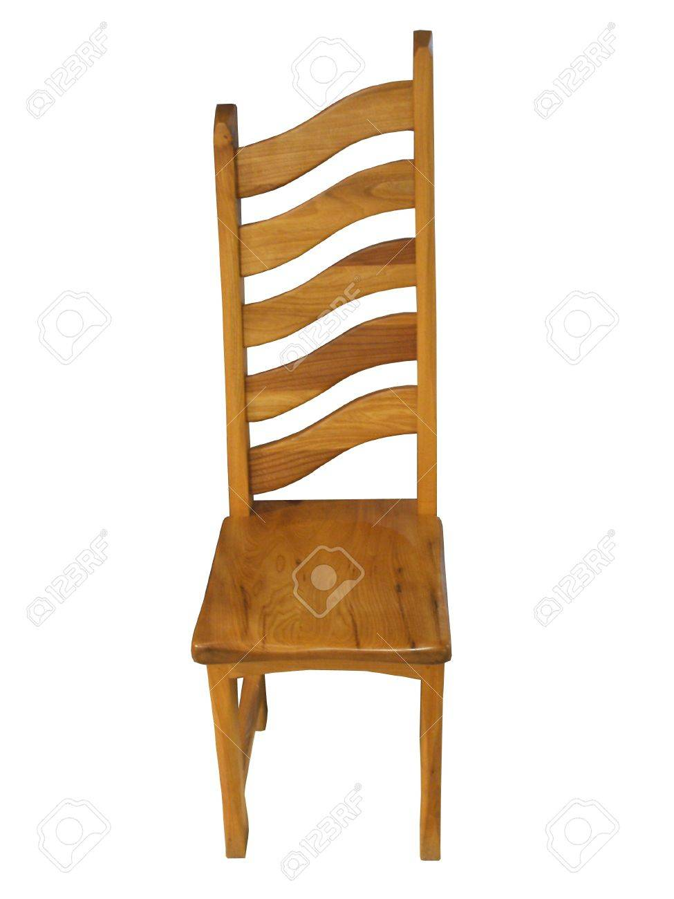 unusual wooden chair panasonic ma70 massage a curved back shaped stock photo picture and 8957946