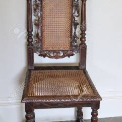 Vintage Wooden Chairs Cheap Rental And Tables A Chair With Mesh Seat Back Stock Photo 16214990