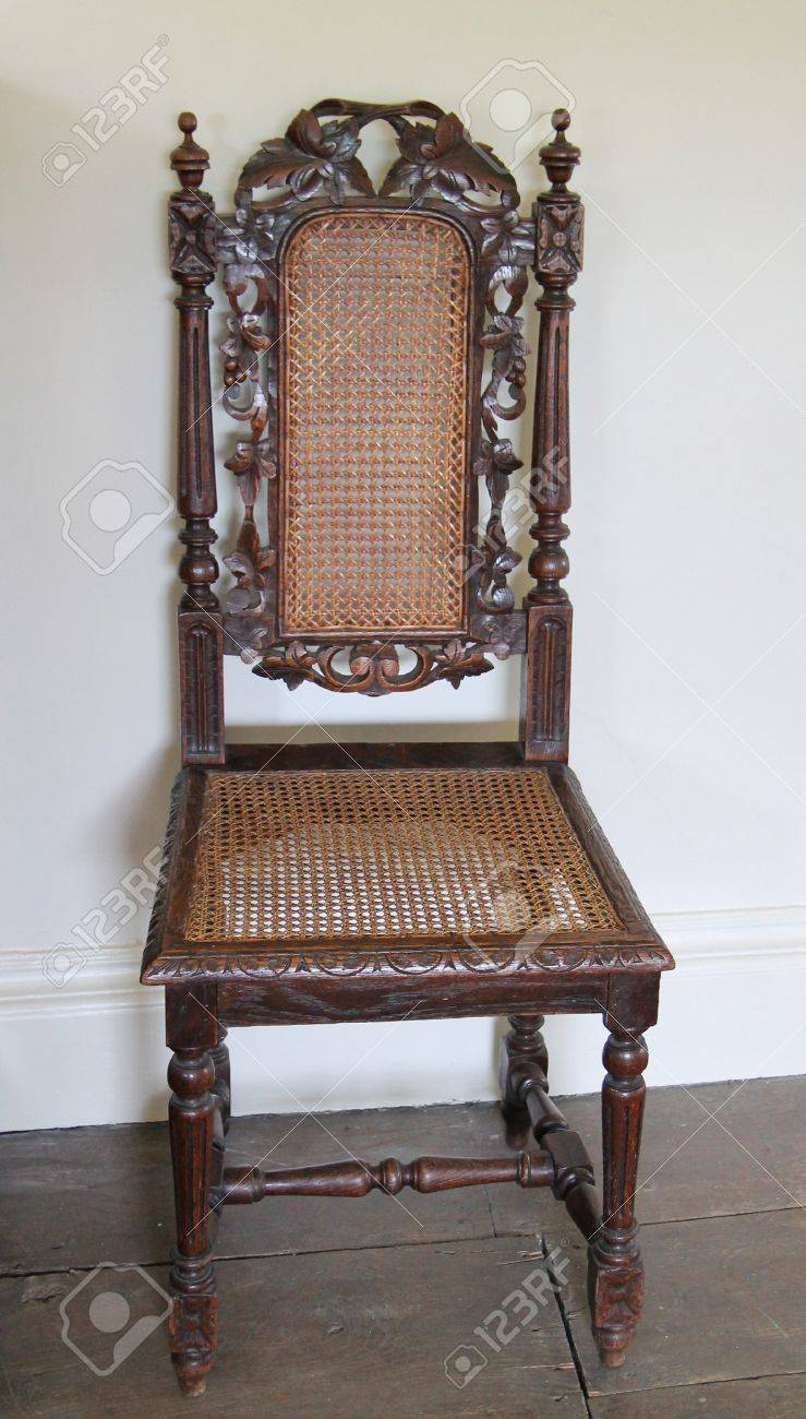 vintage wooden chairs chair design and dimensions a with mesh seat back stock photo 16214990