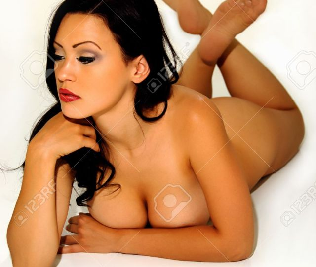 Brunette Glamour Model Nude Prone Stock Photo 11798519