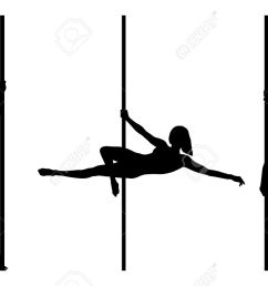 pole dancer silhouettes isolated on a white background illustration [ 1300 x 832 Pixel ]