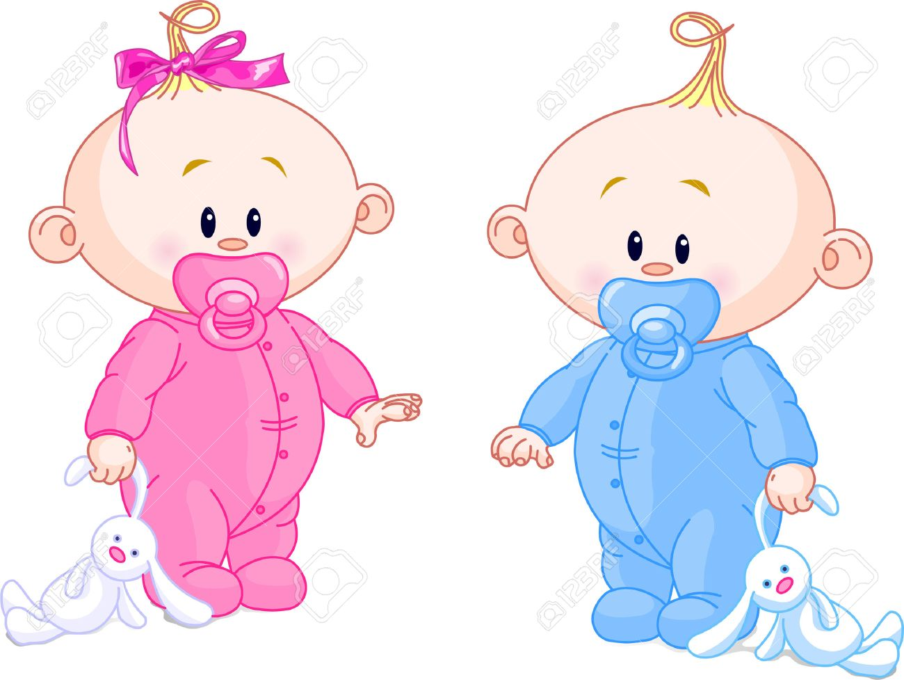 twin baby boy and