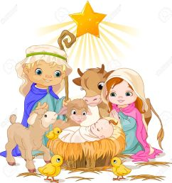 christmas nativity scene with holy family stock vector 23644397 [ 1286 x 1300 Pixel ]