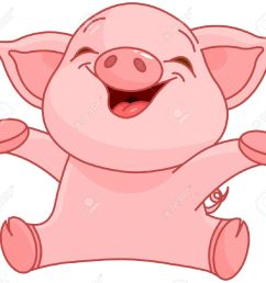 illustration of very cute piggy stock vector 31808470 [ 1300 x 1171 Pixel ]