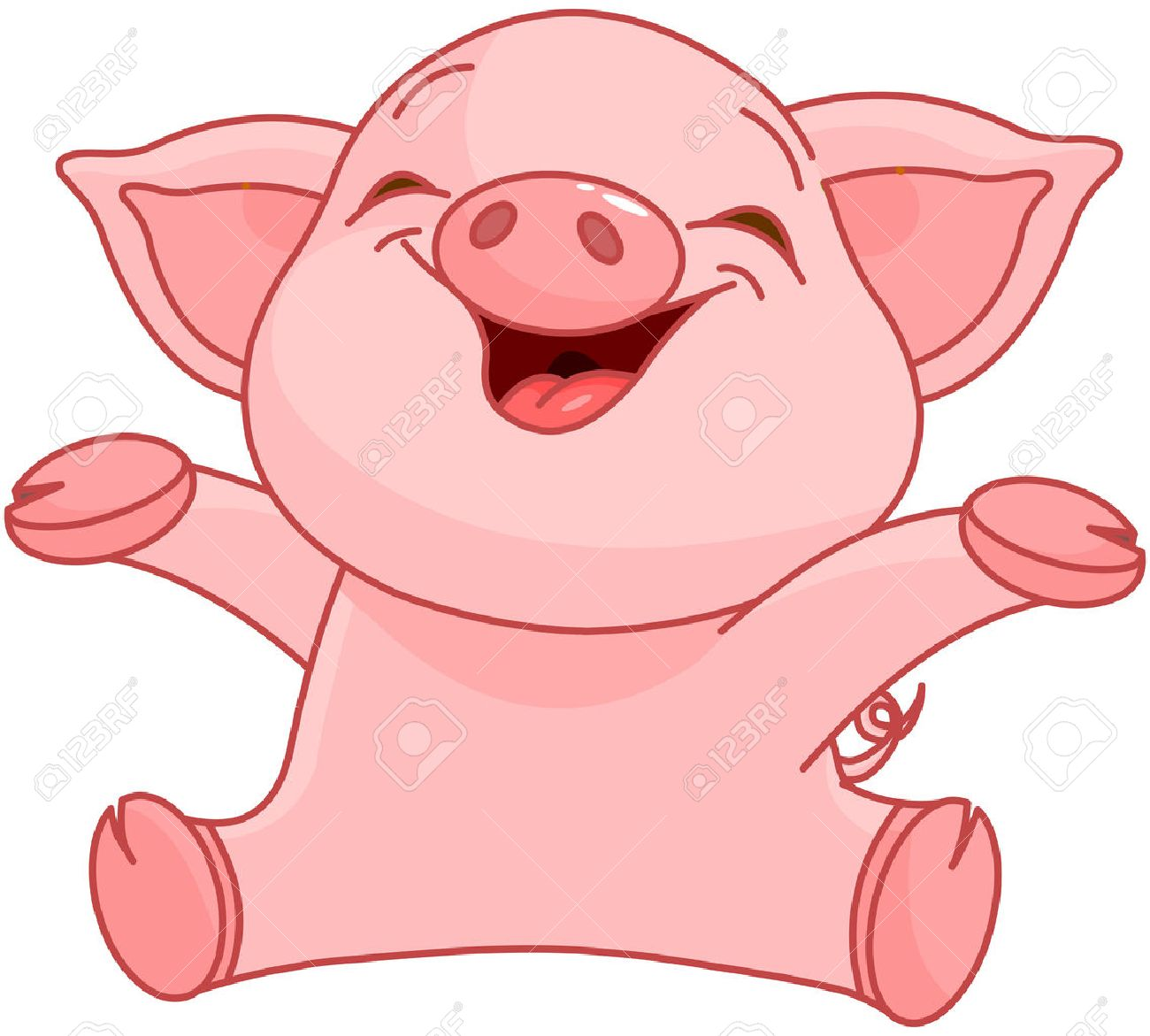 hight resolution of illustration of very cute piggy stock vector 31808470