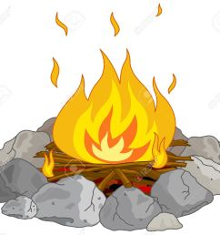 illustration of flame into fire pit stock vector 33677794 [ 1300 x 1166 Pixel ]