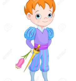 illustration of cute little prince holds flower stock vector 37763016 [ 1027 x 1300 Pixel ]