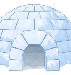 illustration of an igloo stock vector 43890771 [ 1300 x 928 Pixel ]
