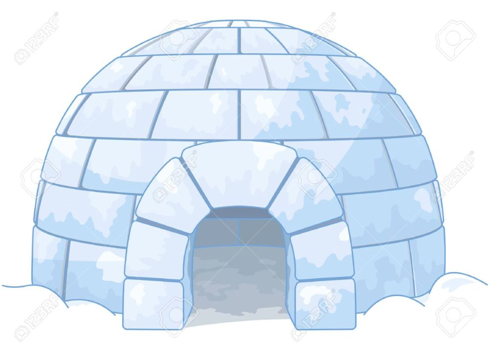 medium resolution of illustration of an igloo stock vector 43890771