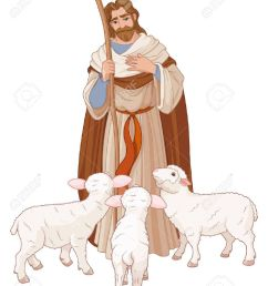 illustration of jesus christ is the good shepherd stock vector 69241553 [ 1025 x 1300 Pixel ]