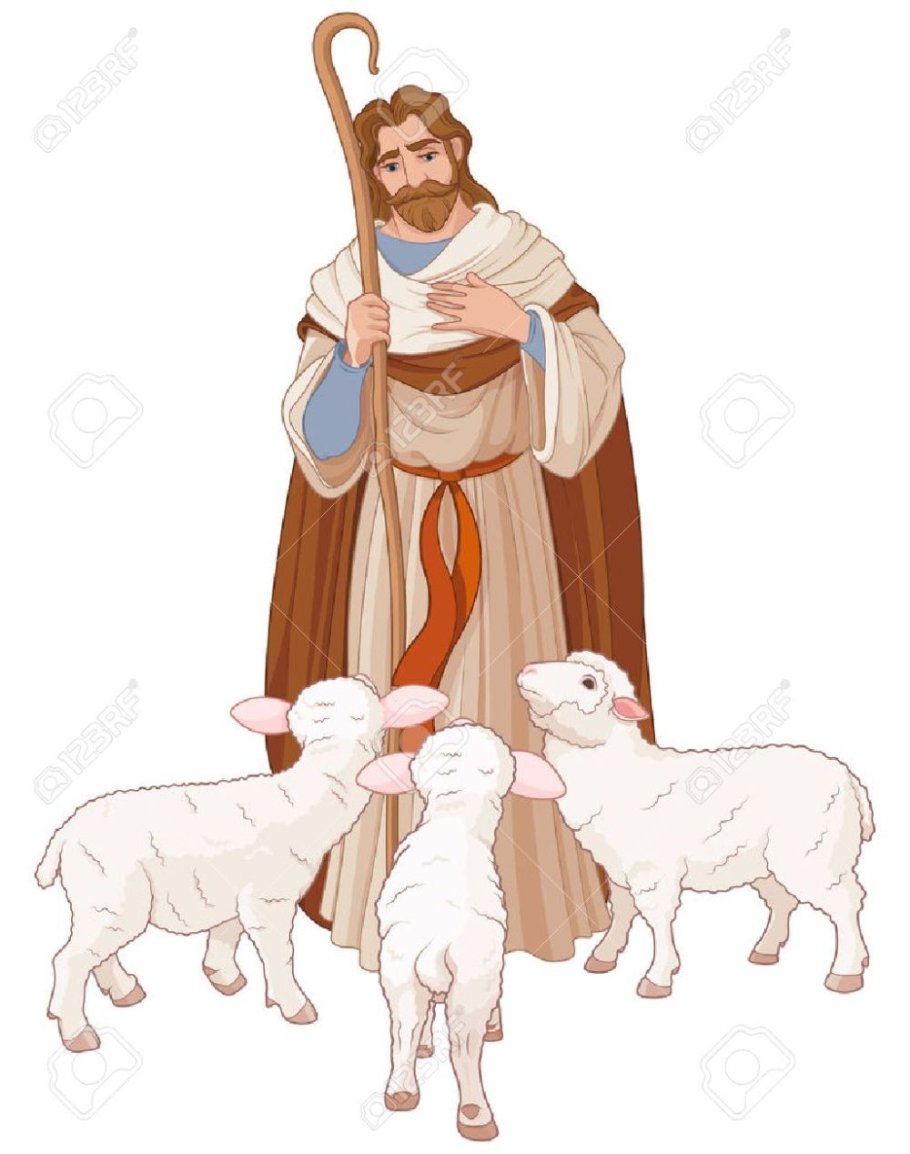 medium resolution of illustration of jesus christ is the good shepherd stock vector 69241553