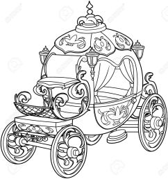 cinderella fairy tale pumpkin carriage coloring page stock vector 69153630 [ 1204 x 1300 Pixel ]