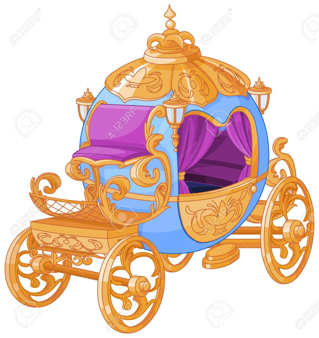 hight resolution of cinderella fairy tale carriage stock vector 69930810