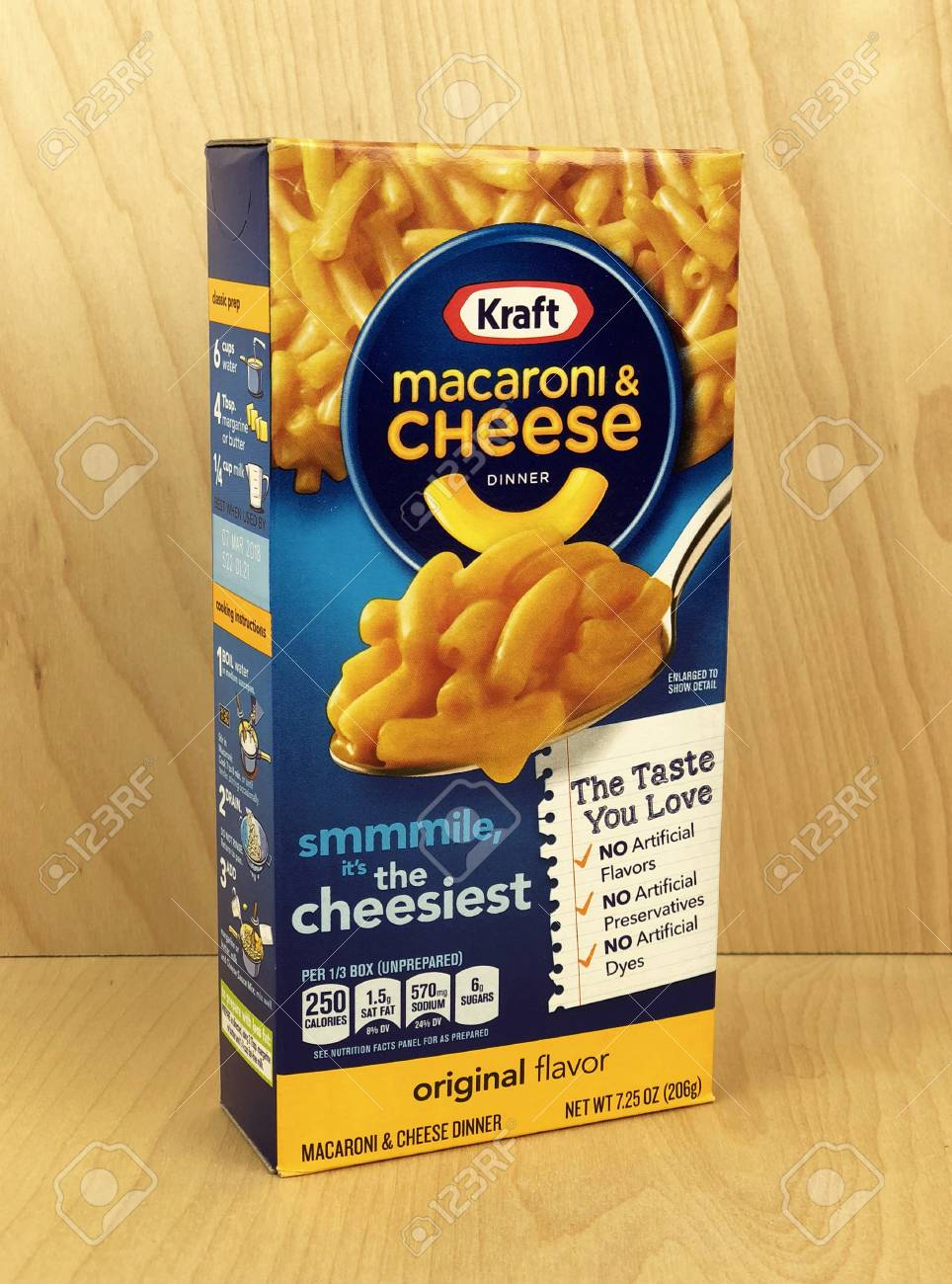 Spencer Wisconsin January 7 2018 Box Of Kraft Macaroni Stock Photo Picture And Royalty Free Image Image 105846831