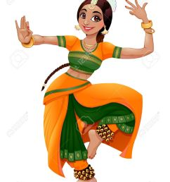indian dancer stock vector 46880247 [ 949 x 1300 Pixel ]