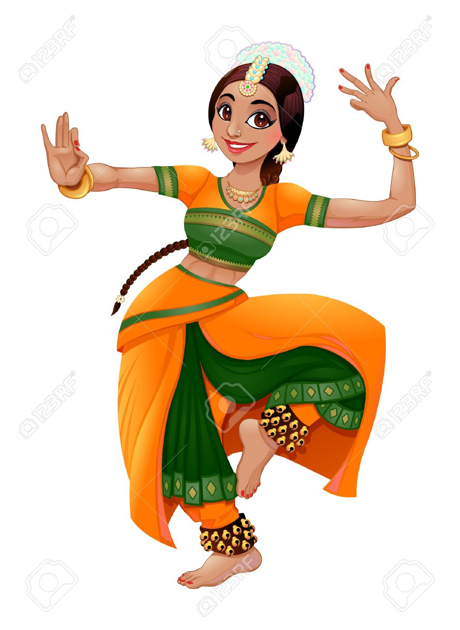 medium resolution of indian dancer stock vector 46880247