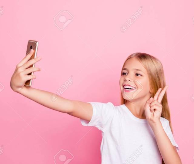 Model People Education Freetime Hobby Selfie Shots Pre Teen Dream Concept Portrait Of Cute Sweet