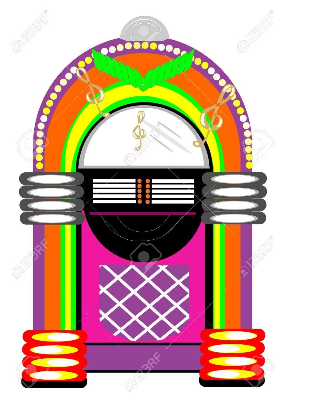 hight resolution of retro jukebox illustration stock vector 10038580