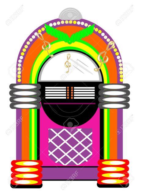 small resolution of retro jukebox illustration stock vector 10038580