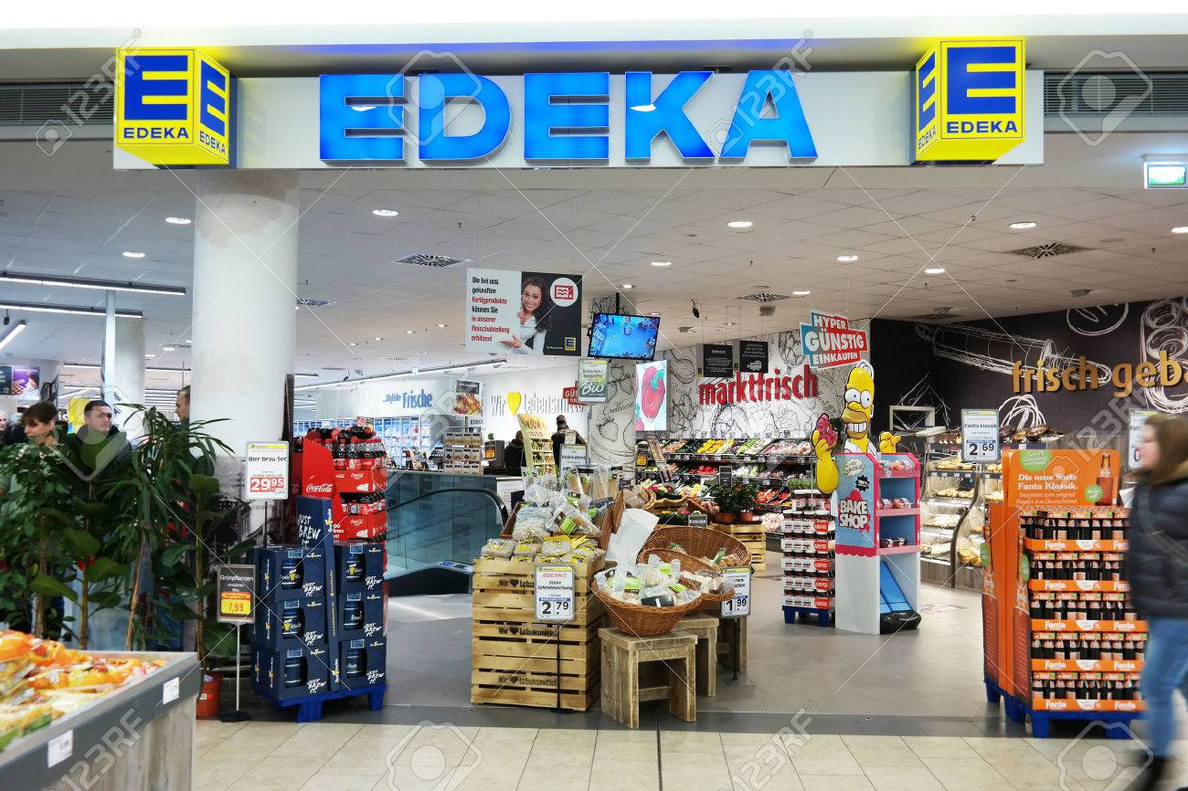 Meppen Germany February 2015 Edeka Supermarket In A Mall Stock Photo Picture And Royalty Free Image Image 37133404