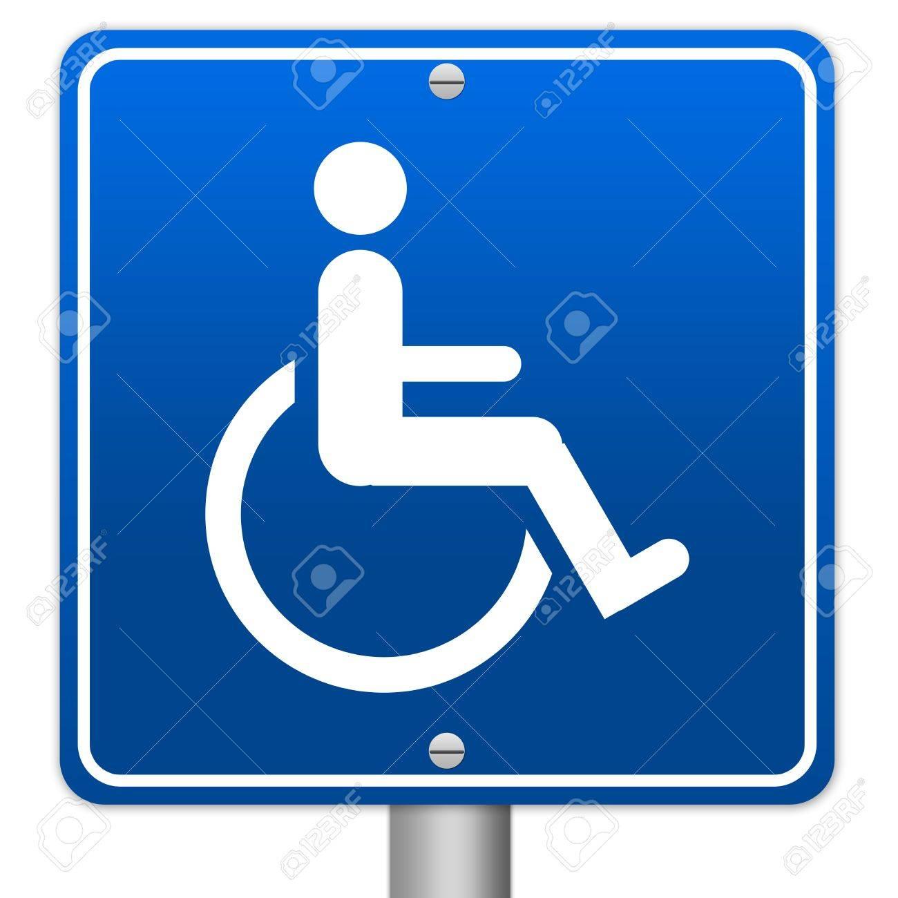 blue square wheelchair handicap