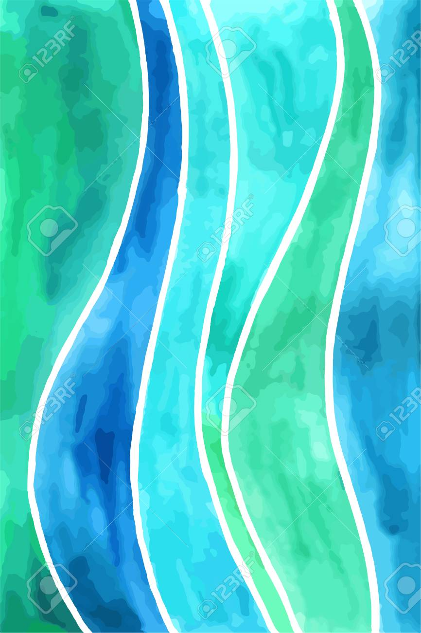 abstract waves vector watercolor