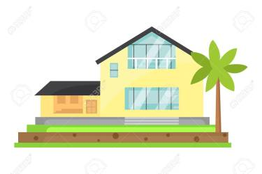 House Cartoon Vector Illustration Town Building Isolated Royalty Free Cliparts Vectors And Stock Illustration Image 86087518