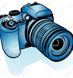 blue digital camera colored illustration as vector stock vector 4351583 [ 1300 x 1300 Pixel ]