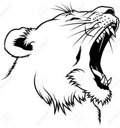 lioness head hand drawn illustration stock vector 6561512 [ 1300 x 1300 Pixel ]