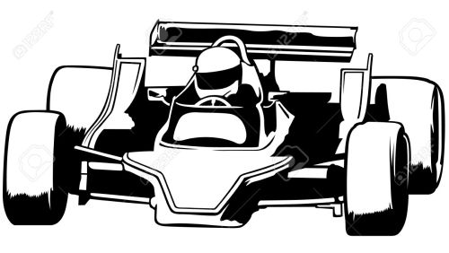 small resolution of racing car black outline illustration vector stock vector 33740322