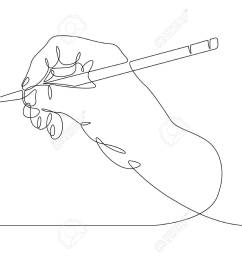 continuous one line drawing hand palm fingers gestures pen pencil stock vector 94609374 [ 1300 x 928 Pixel ]