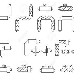 icons of pipes in polyurethane foam insulation and schematic diagram components for websites posters banners [ 1300 x 1022 Pixel ]